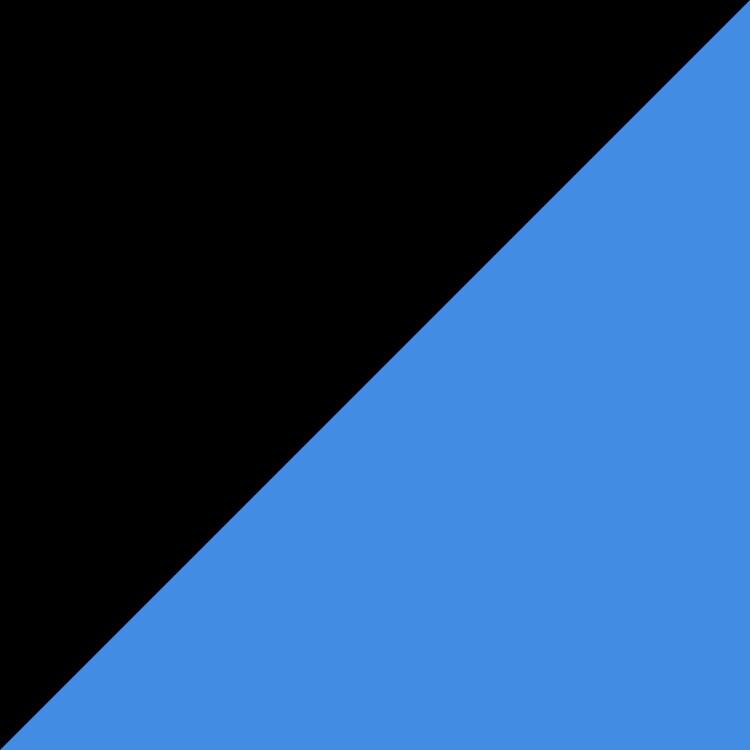 Черно със синьо