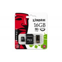 16GB Kingston Micro SD card + USB Adapter