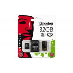 32GB Kingston Micro SD card + USB Adapter