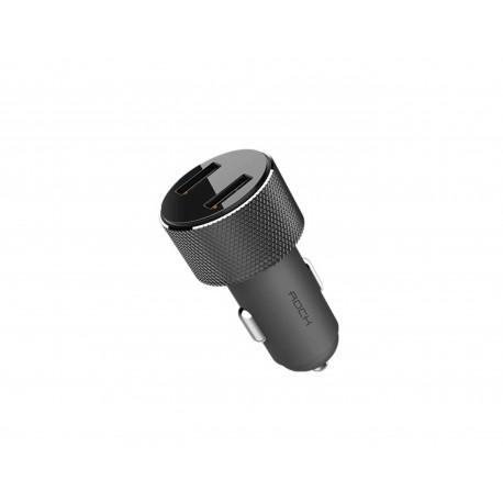 Зарядно за автомобил ROCK Dual USB LED Display 1A-3.4A