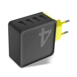 ROCK Sugar зарядно с 4 USB изхода Wall Phone Charger 5V